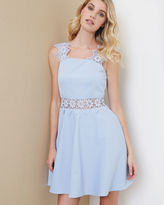 Ted Baker Lace detail textured dress