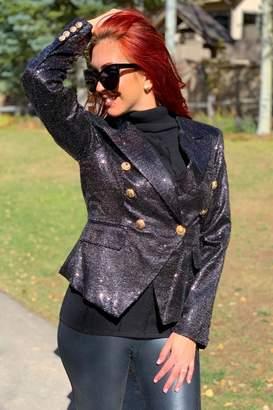 Azi Sequin Short Jacket