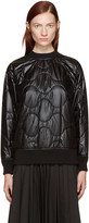 Hyke Black Quilted Nylon Pullover