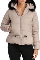 Puffer Light Weight With Fur Hood