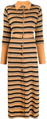 Chloé Knitted Striped Shirt Dress