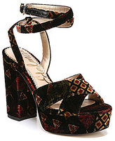 Sam Edelman Mara Velvet Platform Dress Sandals