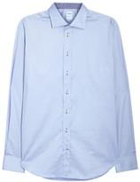 Armani Collezioni Light Blue Stretch Cotton Shirt