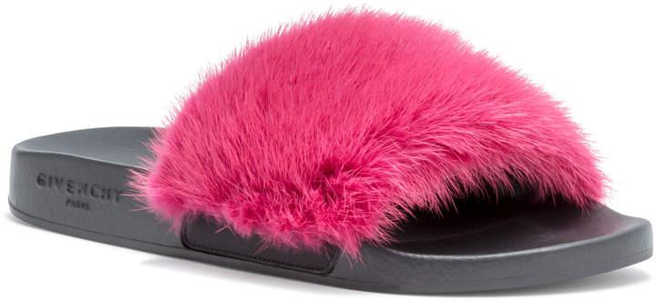 Givenchy Fig Pink Mink Slide Sandal