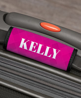 Personalized Planet Luggage Tags - Pink Geometric Personalized Luggage Handle Wrap