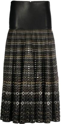 Gianfranco Ferré Pre-Owned 2000s Rivet Detail Midi Skirt
