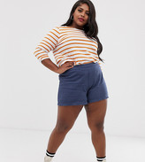 Asos DESIGN Curve easy casual short with exposed zip