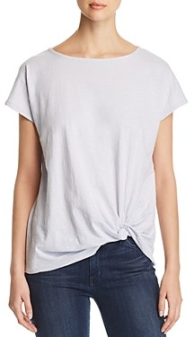 Eileen Fisher Petites Organic Cotton Twist-Front Tee