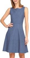Tahari Petite Women's Chambray Fit & Flare Dress