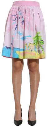 Moschino Holiday Print Pleated Skirt