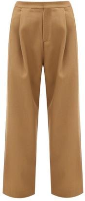 Sara Lanzi Wool-blend Twill Trousers - Beige