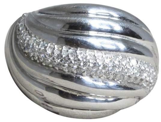 David Yurman 925 Sterling Silver with Diamond Ring Size 7