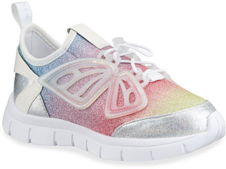 Sophia Webster Girl's Fly By Ombre Pastel Glitter Sneakers, Baby/Toddler/Kids
