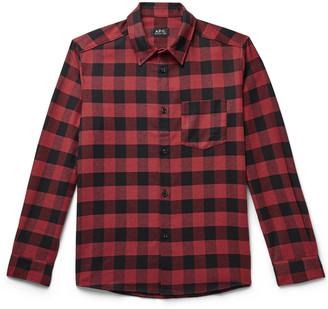 A.P.C. John Buffalo-Checked Twill Shirt