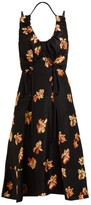 Proenza Schouler Floral Fil-coupe Leopard-jacquard Midi Dress - Womens - Black Multi