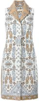 Tory Burch jacquard sleeveless coat