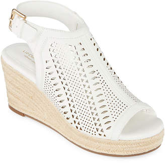 Liz Claiborne Womens Hardie Wedge Sandals