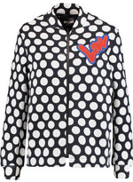 Love Moschino Flocked Polka-Dot Cotton-Blend Jersey Jacket