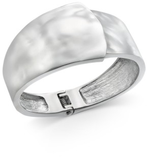 Alfani Silver-Tone Sculptural Bangle Bracelet, Created for Macy's