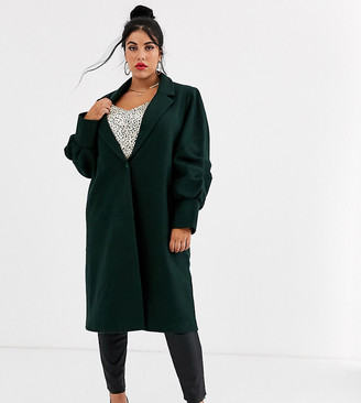 Unique21 Hero gathered cuffs wool coat