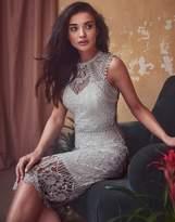 Lipsy Vip Lace Embroidered Midi Dress
