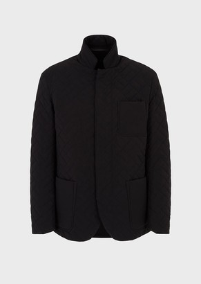 Giorgio Armani Quilted Jacket In Water-Repellent Canvas