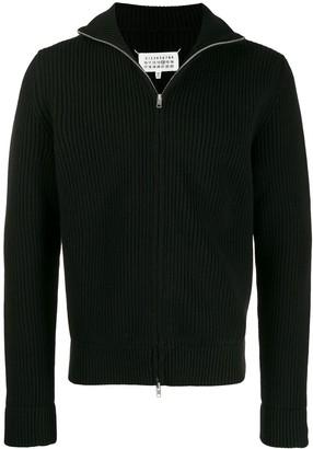 Maison Margiela Zipped Knitted Cardigan