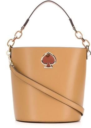 Kate Spade logo bucket bag