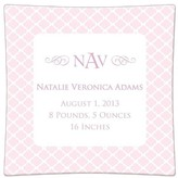 The Well Appointed House Chelsea Light Pink Personalized Birth Announcement Decoupage Plate-Available in a Variety of Sizes