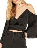 Bardot Solid Cold-Shoulder Top