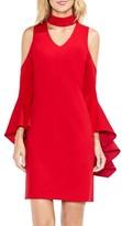 Vince Camuto Women's Cold Shoulder Bell Sleeve Dress