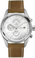 JBW Men's J6300B The Woodall Analog Display Swiss Quartz Brown Watch