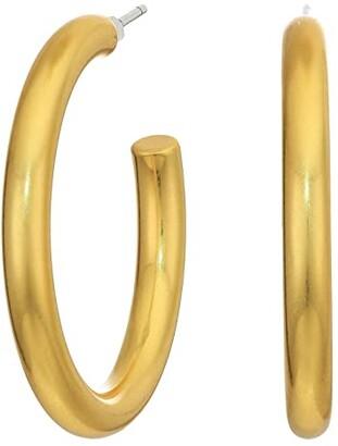 Madewell Medium Chunky Hoop Earrings (Vintage Gold) Earring