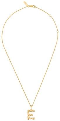 Chloé letter E pendant necklace