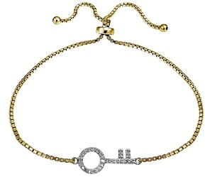 Bloomingdale's Marc & Marcella x Diamond Key Bracelet in 18K Gold-Plated Sterling Silver, 0.29 ct. t.w. - 100% Exclusive
