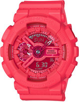 G-Shock Women's Analog-Digital S-Series Coral Resin Strap Watch 46x49mm GMAS110VC-4A