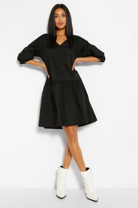 boohoo Ruffle Hem Smock Dress