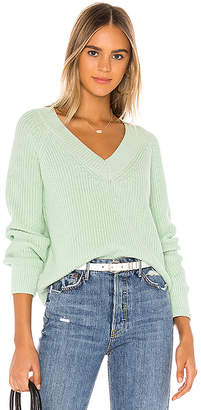 525 America Cropped V Neck Sweater