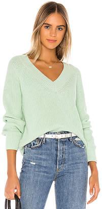 525 America Cropped V Neck Sweater