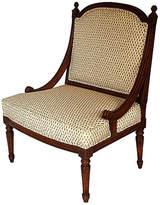 One Kings Lane Vintage Italian Mahogany Slipper Chair