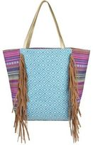 Magid Canvas Fringe Tote Turq One Size