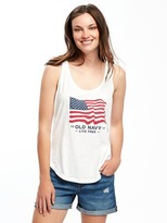 Old Navy Relaxed 2017 Flag-Graphic Tank for Women