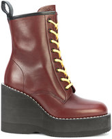 Sacai chunky wedge heeled boots