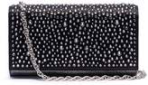 Rodo Strass embellished satin and lamé foldover clutch