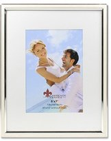 Lawrence Frames 5x7 Ivory Enamel and Silver Metal Picture Frame-8x10 without Mat