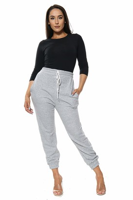 Parsa Fashions Womens Oversized Joggers Ladies Bottoms Lounge Wear Trousers Jogging Gym Pants UK 8-14 (S/M (UK 8-10)