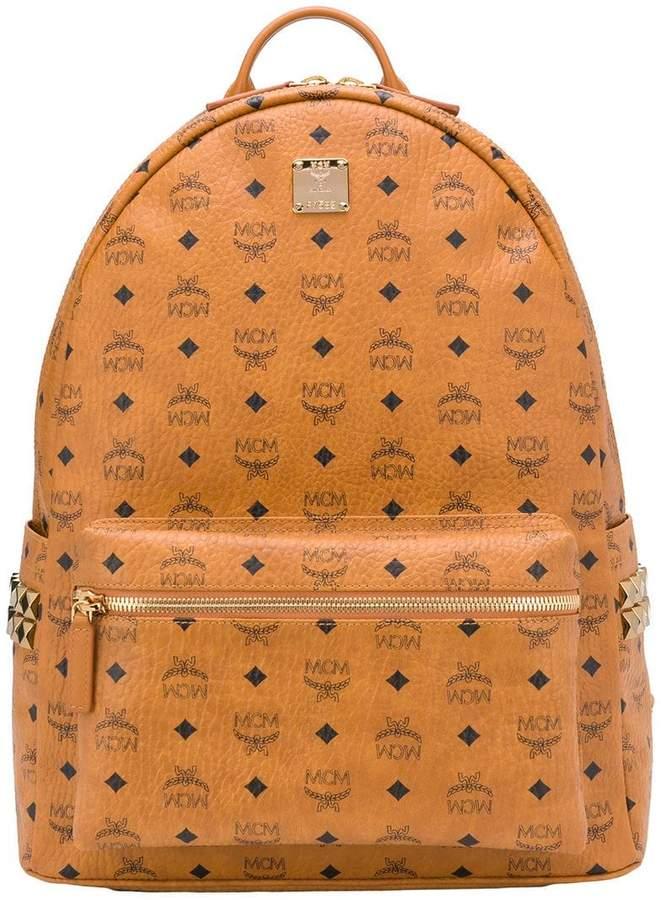 MCM all over logo backpack