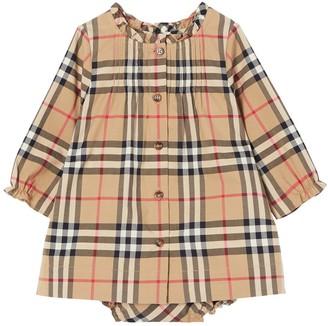 Burberry Check Poplin Dress & Diaper Cover