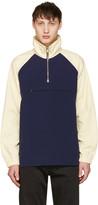 Aime Leon Dore Navy and Off-white Nylon Popover Jacket
