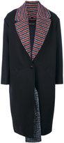 Cédric Charlier contrast lining coat - women - Polyamide/Virgin Wool - 38
